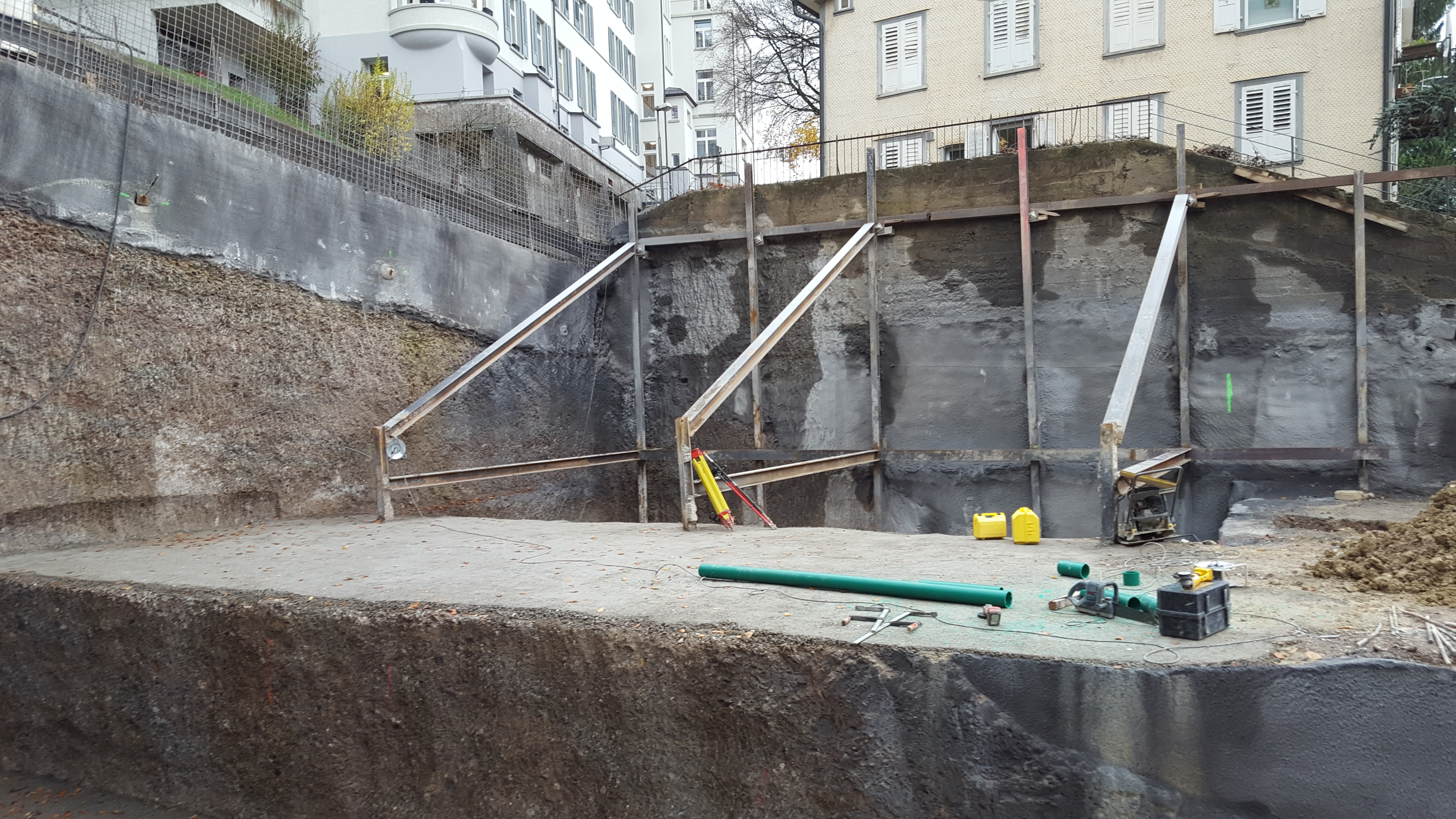 Baugrubenaussteifungen 3